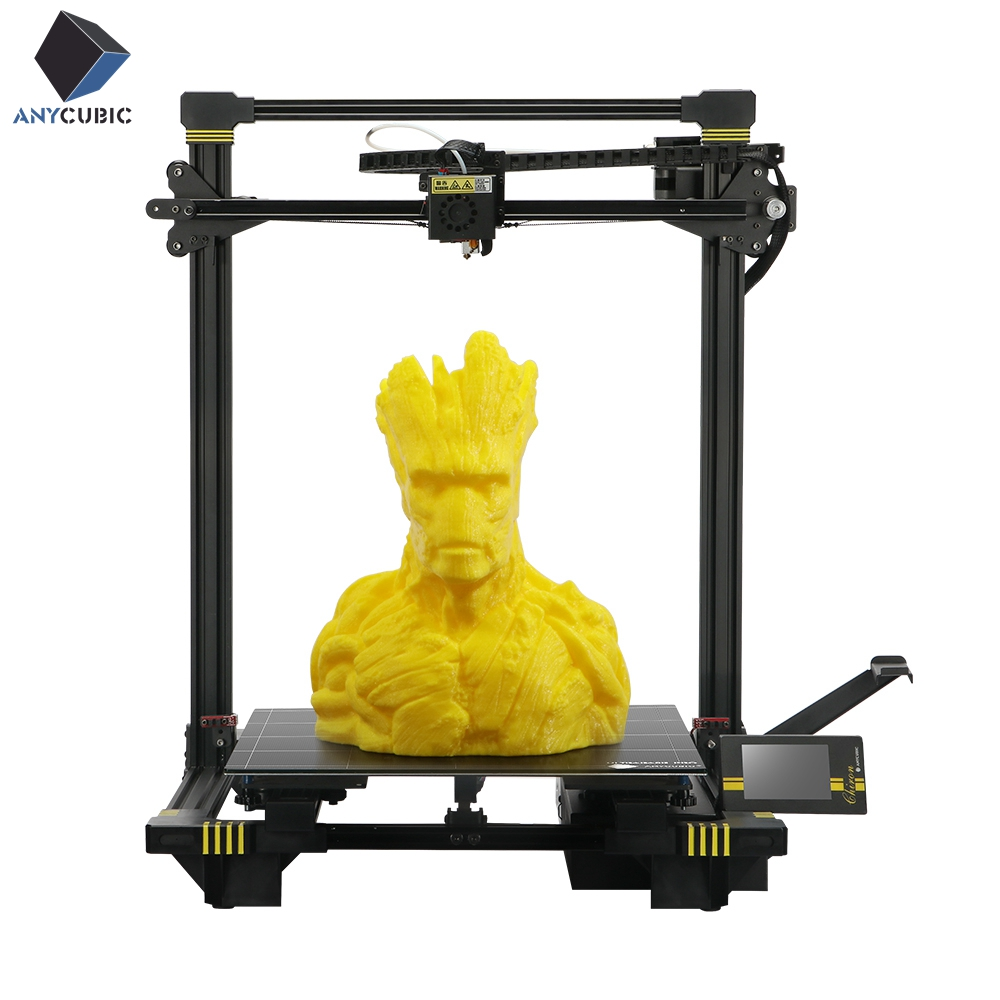 ANYCUBIC Chiron New 3D Printer kit Plus Size Large Ultrabase Extruder Screen Dual Z Axisolor Updated