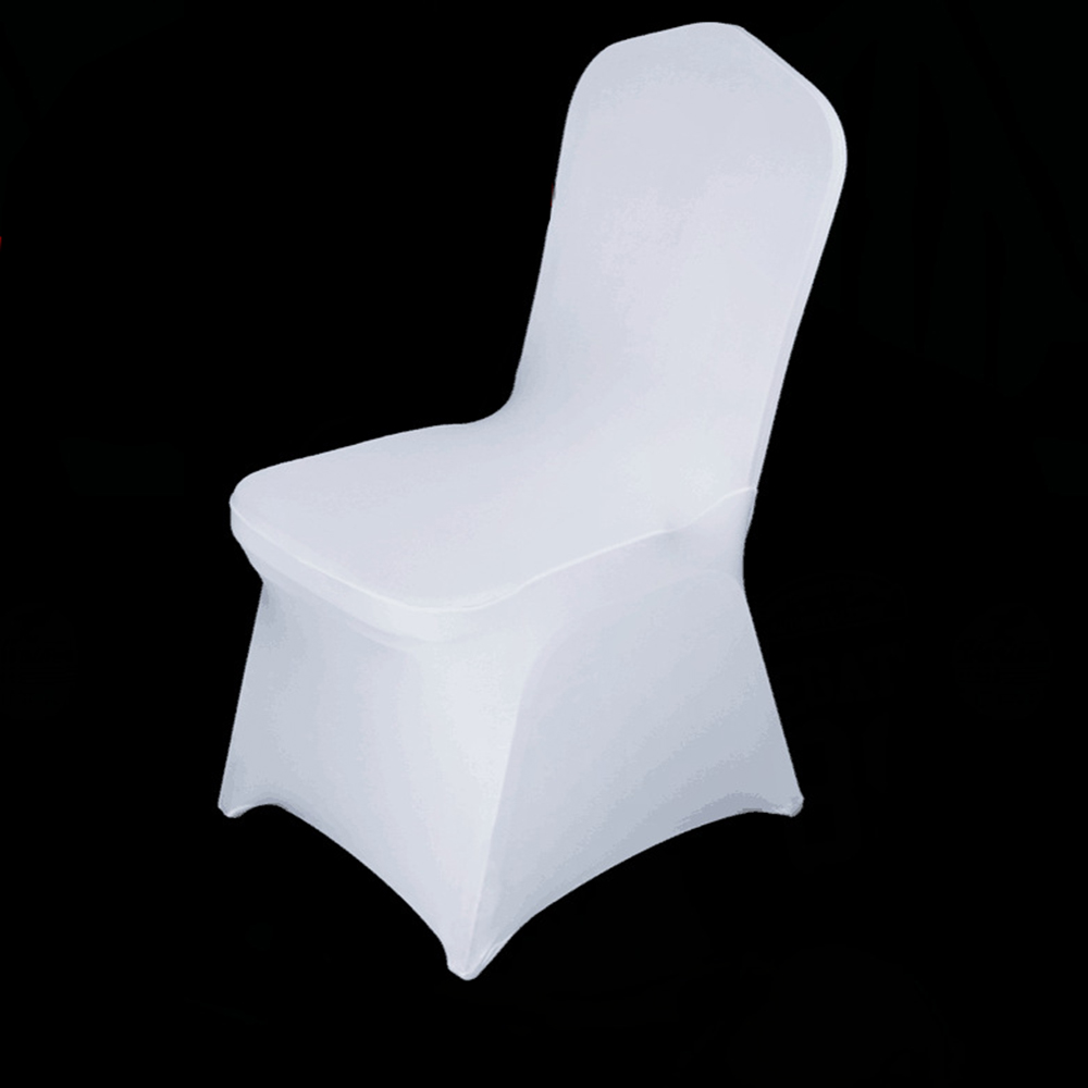 White Banquet Chair Covers - 100pcs lot wholesale universal white chair cover spandex elastic lycra hotel banquet party wedding chair
