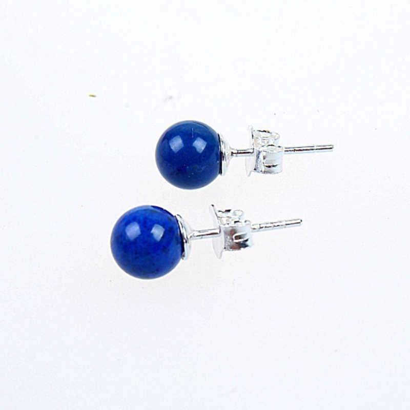 925 เงินสเตอร์ลิงธรรมชาติ lapis lazuli ต่างหูแฟชั่นเครื่องประดับ brinco brincos pendientes orecchini