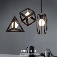 Lámparas colgantes Retro Vintage lámpara LED jaula de metal lámpara colgante lámpara HM33