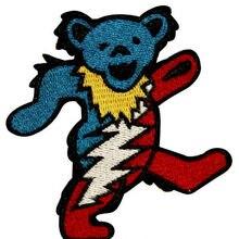 """"""" Grateful Dead Танцы Marching молнии медведь Music Band Heavy Metal утюг на патч футболка Мотив Аппликация в стиле панк-рок значок"""
