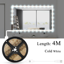USB 5V Makeup Mirror Light Waterproof Bathroom Mirror Wall Lamp Dimmable Hollywood Party Makeup Vanity Table Cosmetic Lighting