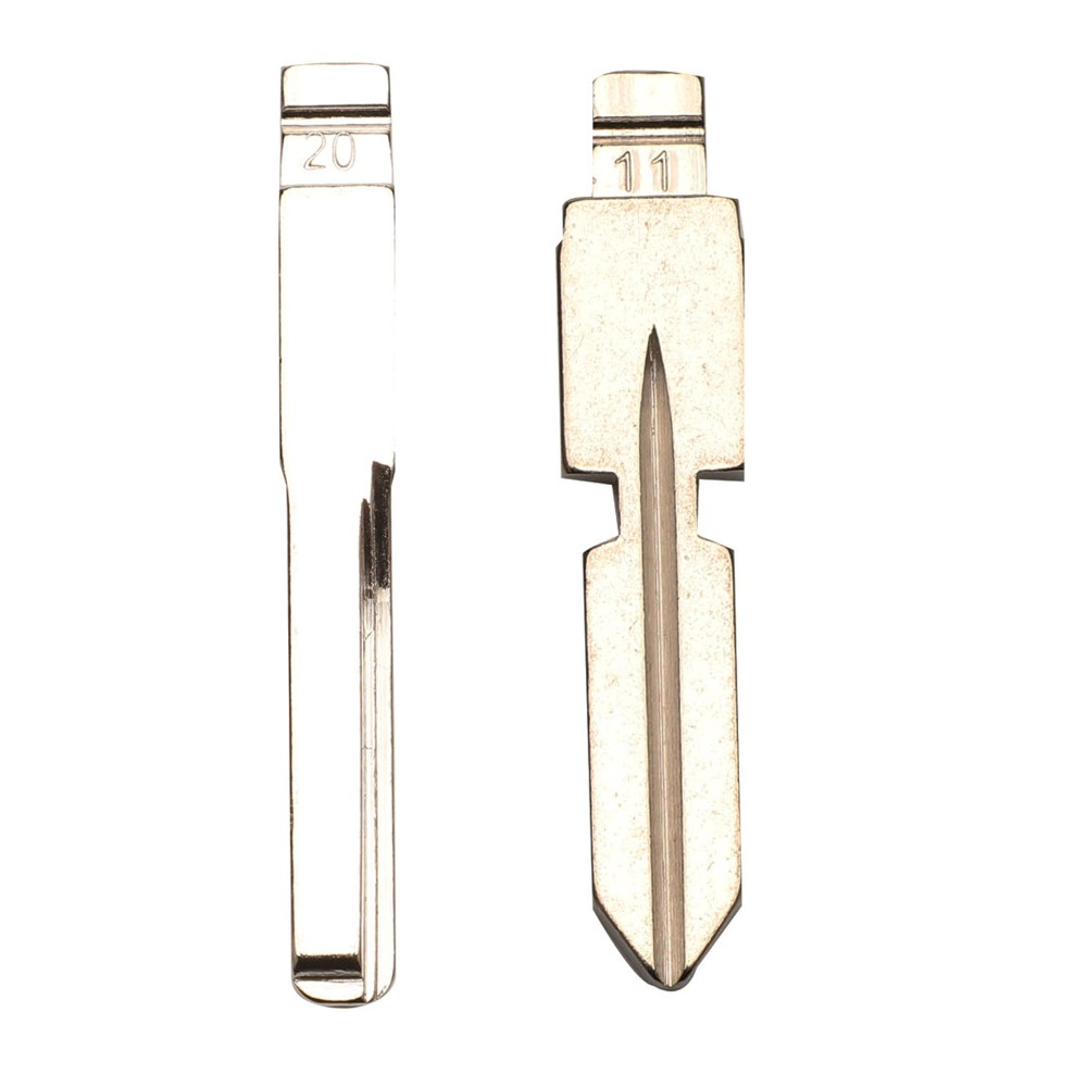 jingyuqin 10x Metal Blank Uncut Flip KD Remote Key Blade Type #11 #20 for Benz 126 <font><b>124</b></font> W140 S320 4 Track Car Blank Replacement image