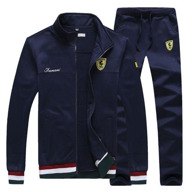 Long Sleeve Stand Collar Sweatshirt Sports Set  1