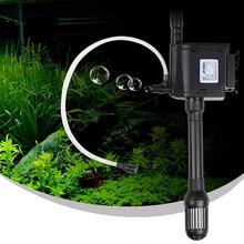 Triple mini aquarium fish tank filter pump submersible pumps water pumps supply 220-240v / 50Hz power 25W flow 1200L / H стоимость