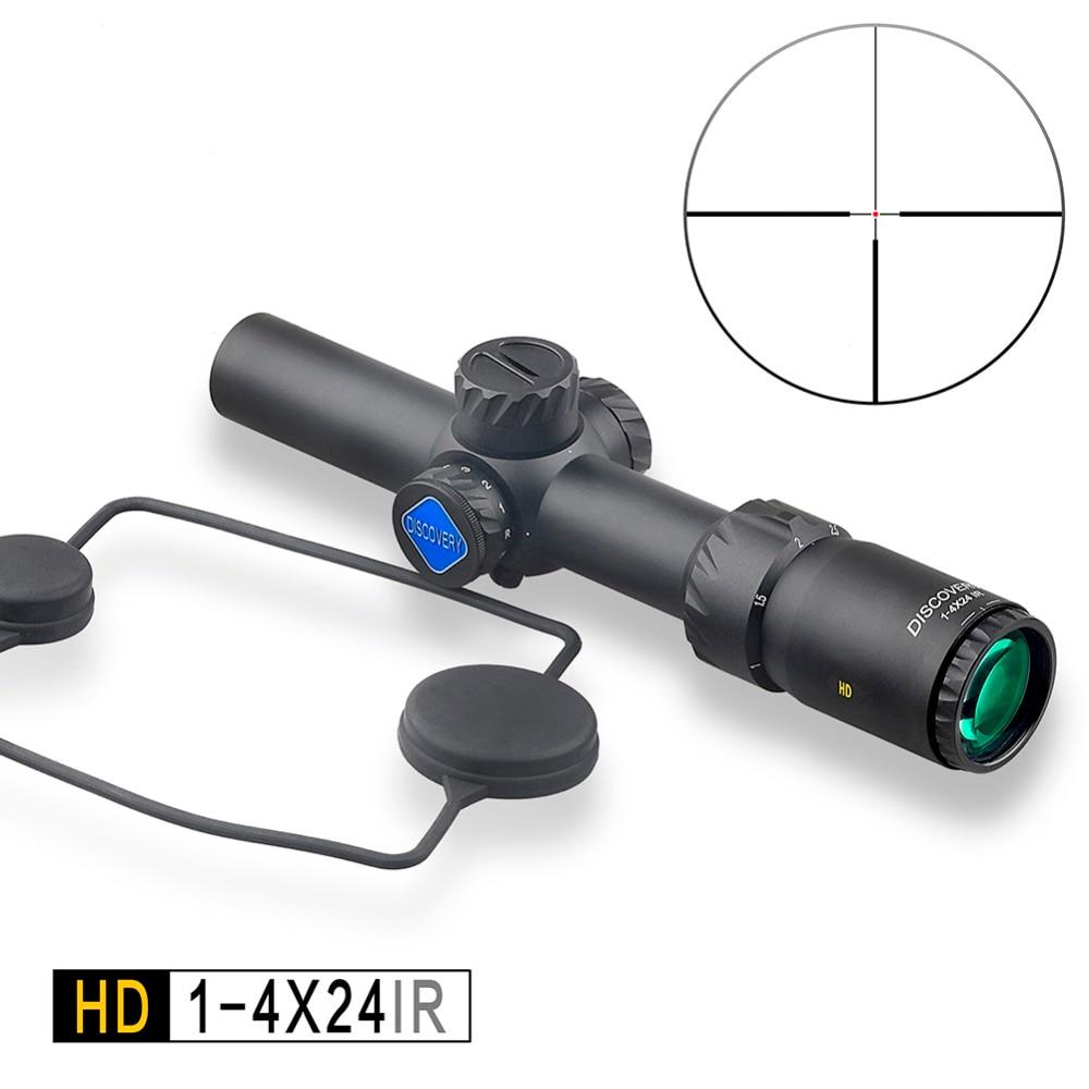 SCOPERTA tattica di Caccia Cannocchiale HD 1-4X24 IR Lunghi eye relief Illuminato R & G Mirino Telescopico Scope fit 30- 06 308 AR15 M4