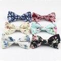 Para hombre de la Pajarita Corbata Bowtie Flexible Suave de Algodón Suave Mariposa Patrón Decorativo Paisley Flor Lazos