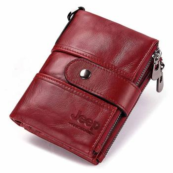 100% Genuine Leather Rfid Wallet Men Crazy Horse Wallets Coin Purse Short Male Money Bag Mini Walet High Quality Boys 13