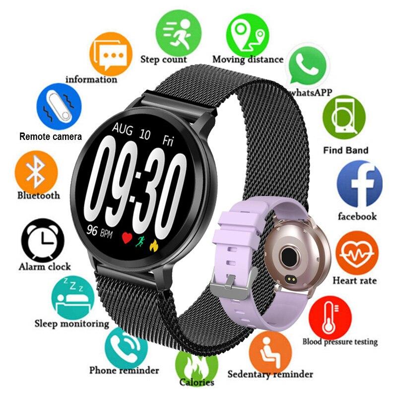 2019 bluetooth relógio inteligente dos homens de pressão arterial smartwatch mulher relógio inteligente à prova dwaterproof água esporte rastreador whatsapp para android ios