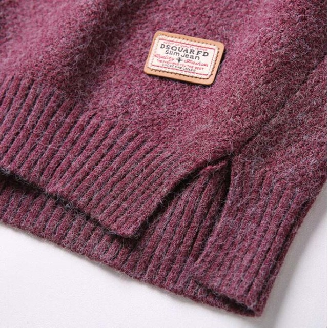 Long SleeveSolid Pullover Casual Knitted Sweater