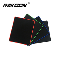 Rakoon 30x25CM Gaming Mouse Pad Black-faced Red/Blue/Black/Green Lock Edge Rubber Speed Mouse Mat For PC Laptop Computer