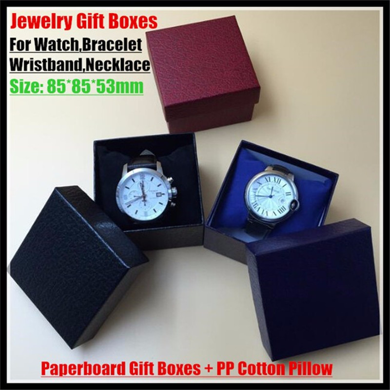 30sets!Customized Jewelry Retail Box (Paperboard Gift Boxes+PP Pillow) for Watch,Bracelet,Wristband,Necklace Packaging&Display
