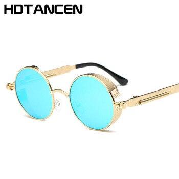 Hdtancen Moda Para Marca De Y Metal Hombres Vintage Oculos 2017 Grau Gafas Mujeres Retro Sol Redondas Diseñador TlFK1J3uc