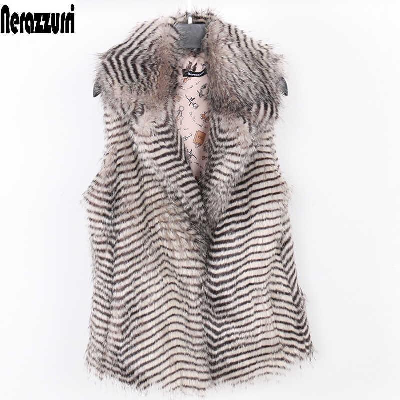 Nerazzurri жилет из искусственного меха женская зимняя красочная безрукавка Женская куртка без рукавов плюс размер градиентный Пушистый Жилет 5xl 6xl 7xl