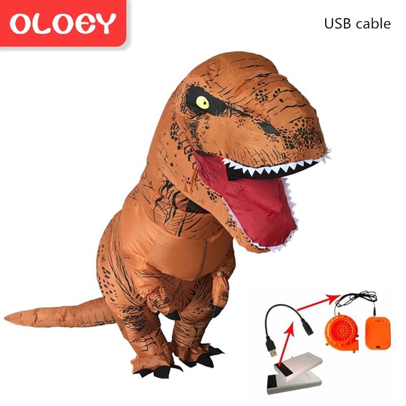 Angemessen Oloey Aufblasbare Kostüm Erwachsene Kinder Dinosaurier T Rex Kostüme Cosplay Cartoon Blow Up Phantasie Kleid Maskottchen Purim Overall # Trex002 100% Hochwertige Materialien