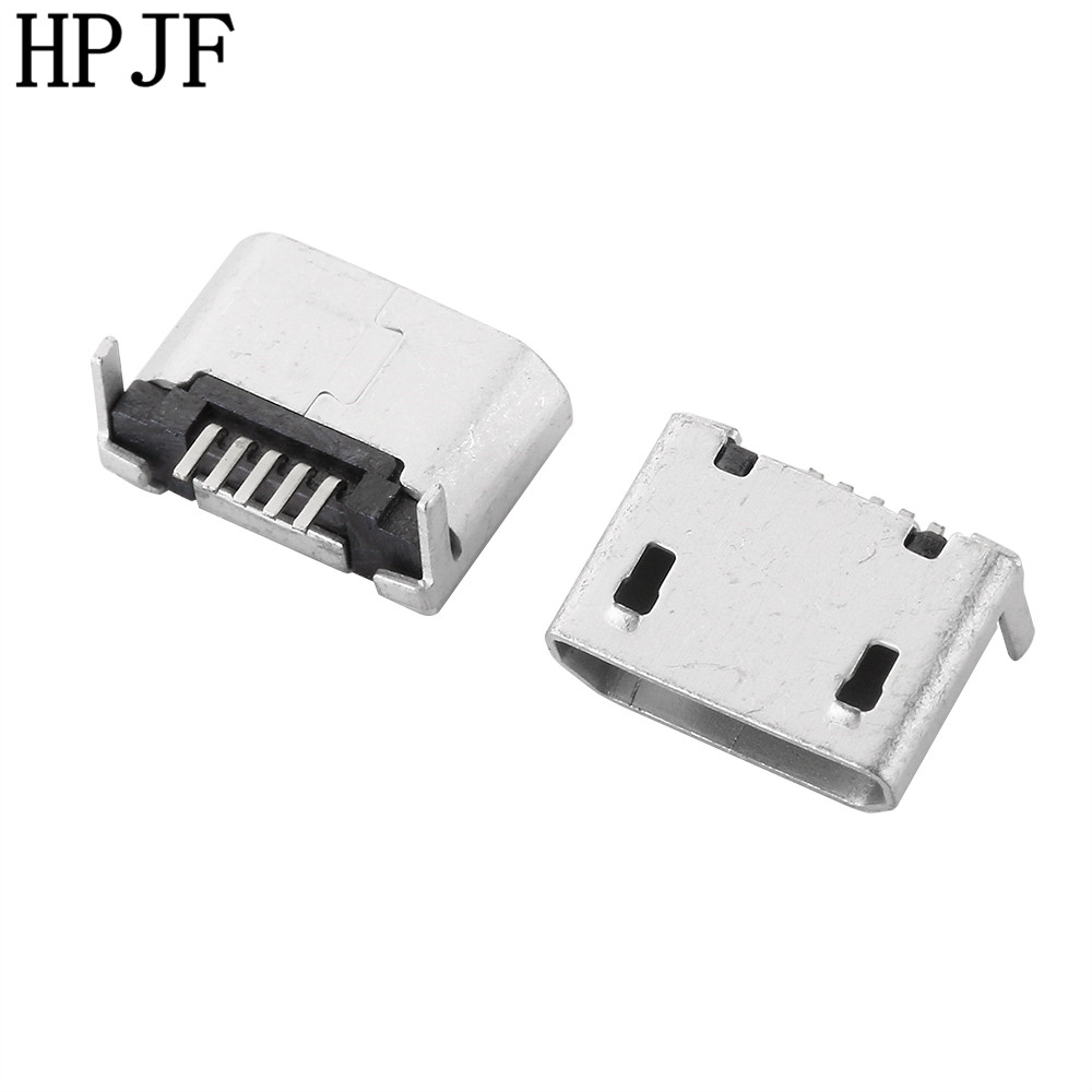10pcs Micro Usb Type B Female 5 Pin Smt Socket Connector 2 Legs Smd Chip Led 5730 Putih Cold White 5w 32 34v Diy Ping Mouth