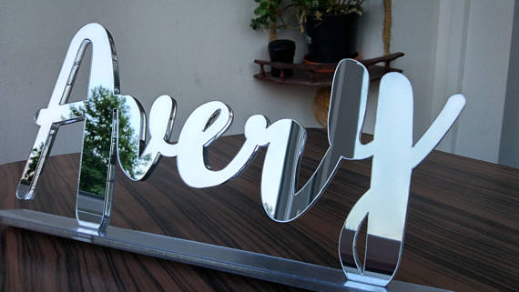 Acrylic Letters, Laser Cut Signs, Custom Sign, Wedding Sign, Wedding Decor, Name Plate,  ...