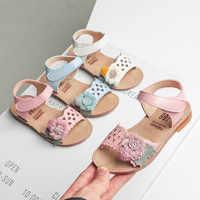 Mädchen sandalen Kleinkind Infant Kinder Baby Mädchen Beiläufige Einzelne Blume Haken Schuhe Sandalen chaussures enfant fille ete6.814gg
