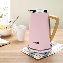 22%,1800W/220V/1.7L Vogue Graining Handle High-capacity Temperature Controlled Electric Kettle Kitchen Appliance 4 Colors