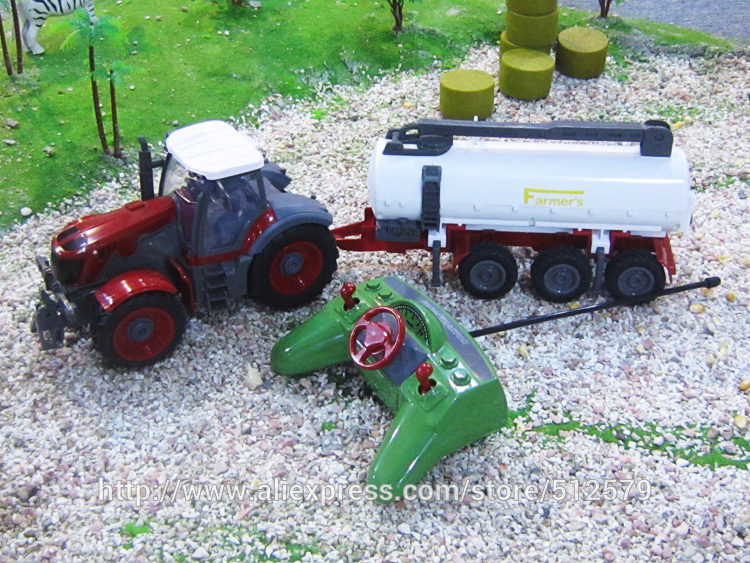 Big Remote control Big Size Kingtoy fun 1:28 Multifuncional rc farm trailer tractor truck free shipping