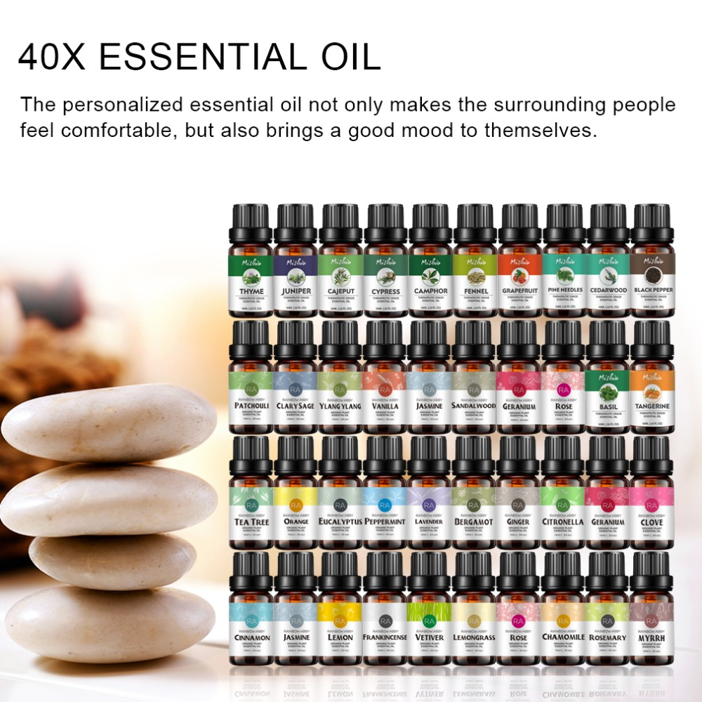 37 Flavors Pure Essential Oils Water-soluble Relieve Stress For Aromatherapy Diffusers Organic Skin Care Natural Massage Relax
