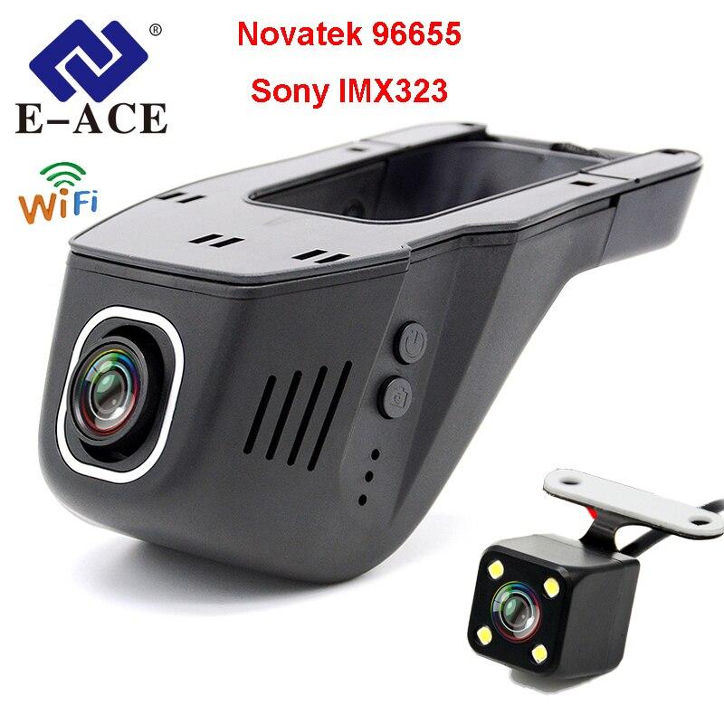 E-ACE Auto DVR Novatek 96655 SONY IMX 323 Versteckte Registrator Kamera Mini Auto Video Recorder FHD 1080 p Nachtsicht wiFi Dash Cam
