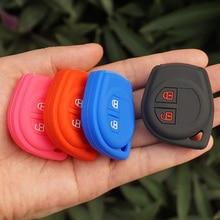 Silikonowa obudowa kluczyka do samochodu pokrywa zestaw cap skórzane etui uchwyt ochrony dla Suzuki Amagatarai Shangyue zdalnego keyless hurtownie 50 sztuk