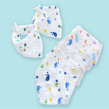 Four layers of gauze triangle towel cotton baby saliva no fluorescent wash bib