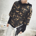 2016 new spring and autumn classic men's fashion casual trend all-match fatigues leave two loose XL hedging hooded jacket