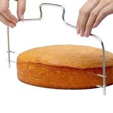 1 шт., нержавеющая сталь, регулируемая проволока, резак для торта, слайсер, инструмент для выпечки, высокое качество, скребок для торта, кухонные аксессуары