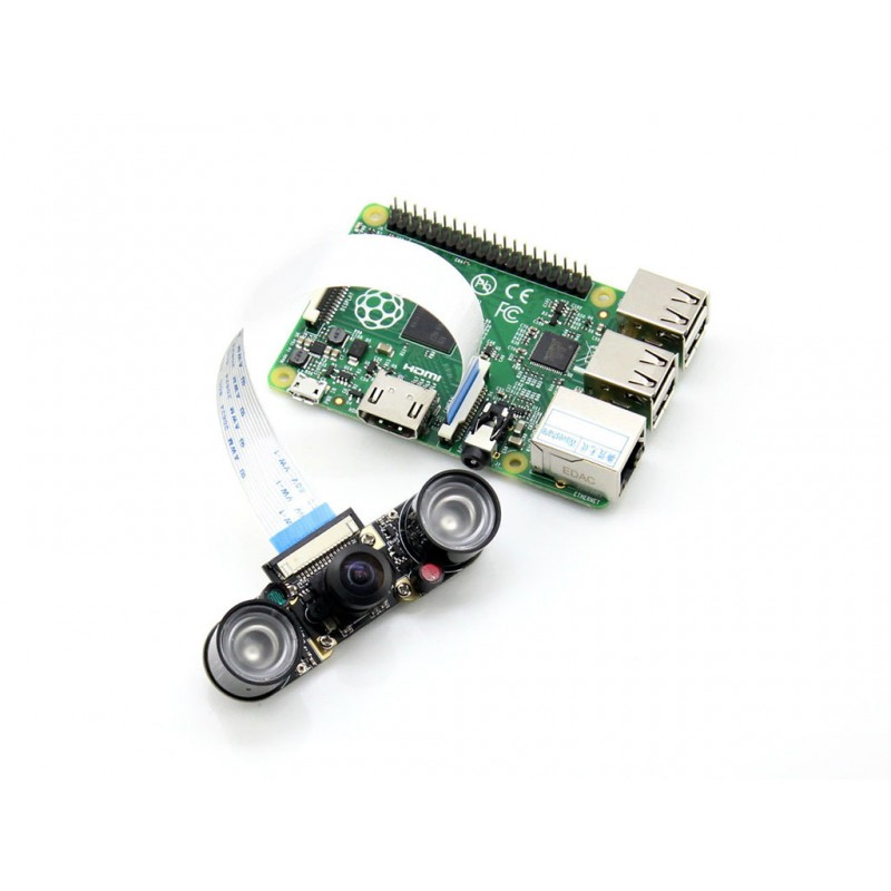 Raspberry Pi Camera RPi Camera (H) supports all revisions of the Pi Fisheye Lens supports night vision 5 mega 1080p resolution