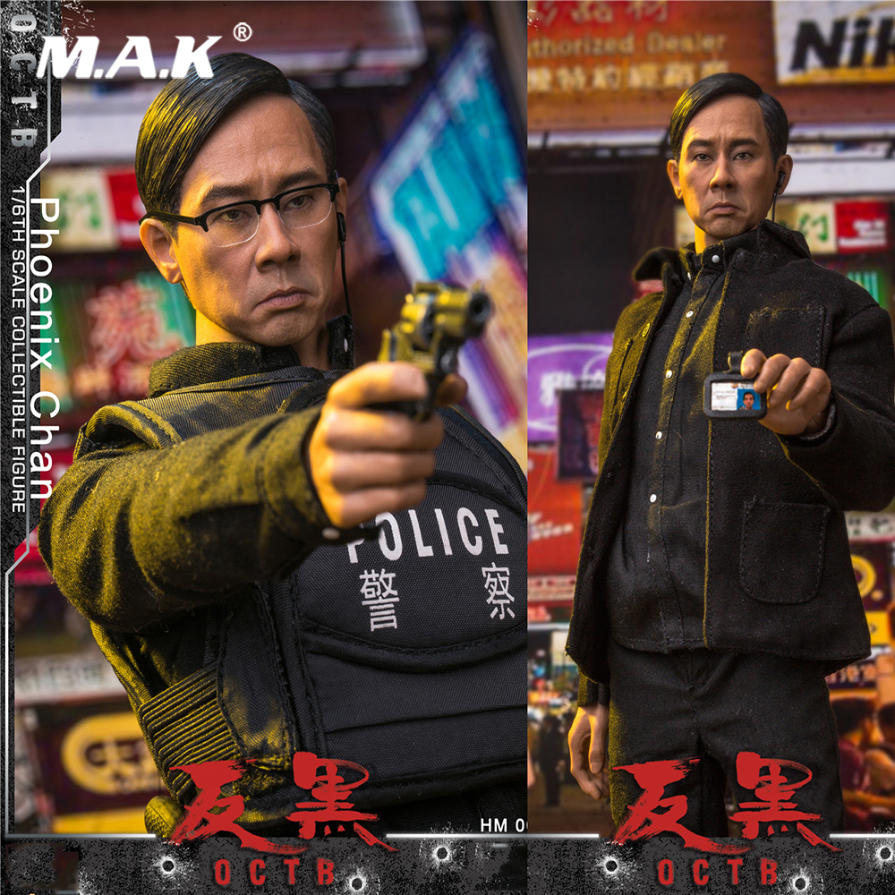 For Collection 1/6 Full Set Action Figure Jordan chan Phoenix Chan Hong Kong Opera Anti-Black OCTB Model Toys for Fans Gift for collection full set action figure model fs 73005 1 6 us us delta special forces 1st sfod d figure model toys for fans gift