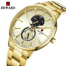 Relogio Masculino קוורץ שעונים גברים יוקרה למעלה מותג Mens מלא פלדת זהב שעון גברים עמיד למים תאריך שעוני יד Reloj Hombre