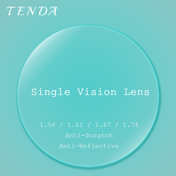 TendaGlasses 1.56 1.61 1.67 1.74 Single Vision Super Thin Lenses Anti Reflective Prescription Lens For Optical Glasses