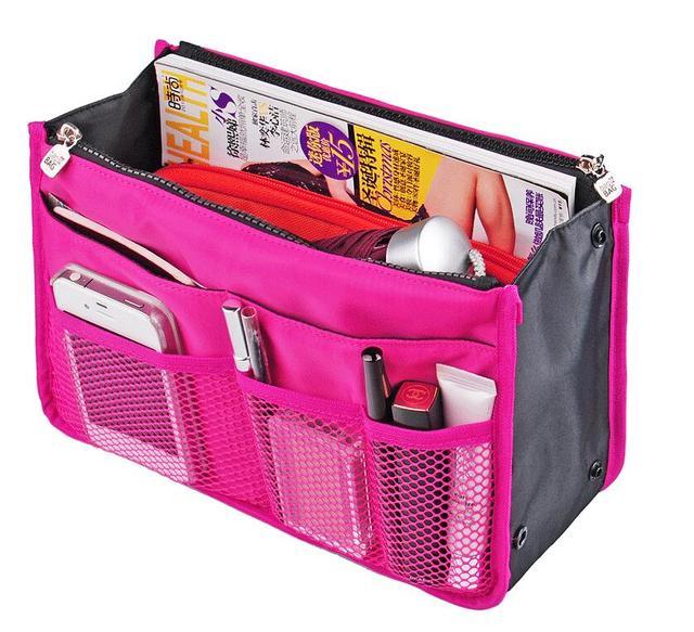 Cajas del filtro cosmética Maquillaje Organizador necesario Organizador Bolso Trousse De Maquillage Bolsa Neceser Maquillaje Estojo Maquiagem