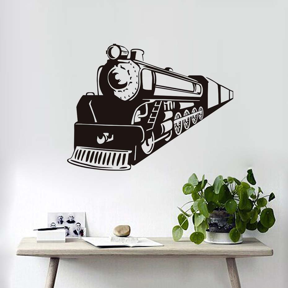 Train Apache Vinyl Wall Art Retro Train Guard Wall Cartoon Wall Decal Cool Fashion Mural Sticker