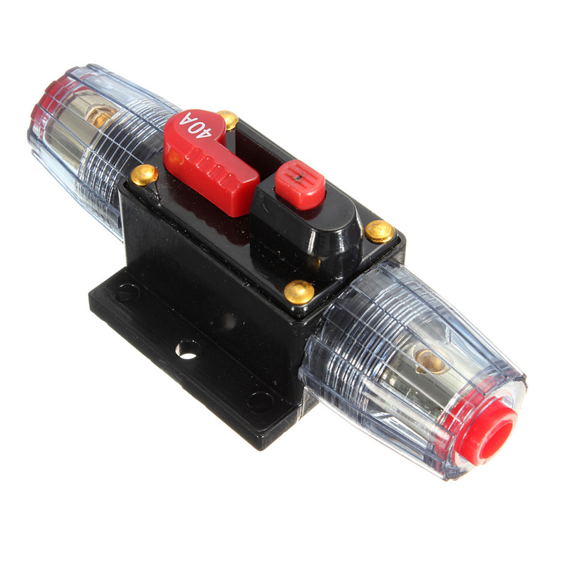 newest dc 12v 40a car stereo audio circuit breaker inline fuse car stereo fuse at Car Stereo Fuse