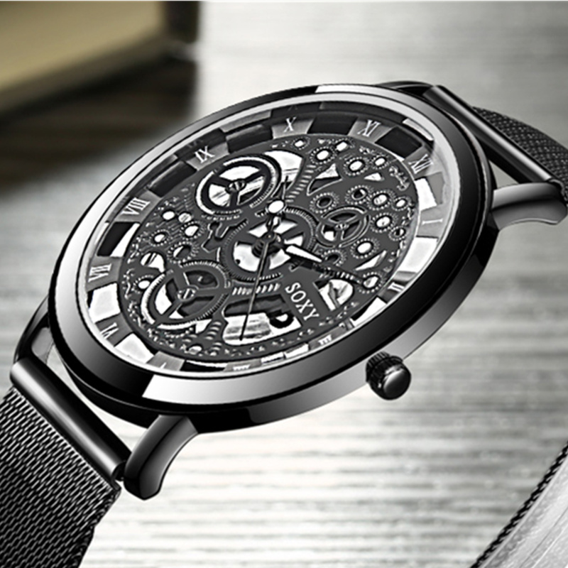 SOXY Skeleton Wrist Watch Men Watch Mens Watches Top Brand Luxury Hollow Out Men's Watch Clock Saati Relogio Masculino Relojes hannah martin men s sport watches top brand wrist watch men watch fashion military men s watch clock kol saati relogio masculino