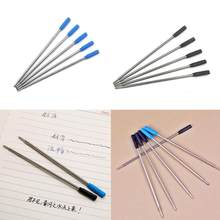 Wholesale Ballpoint Metal Pen Refill 1.0mm Length 11.6cm Short Blue And Black Ink Refill Replacement Stainless Steel Pen Refill(China)