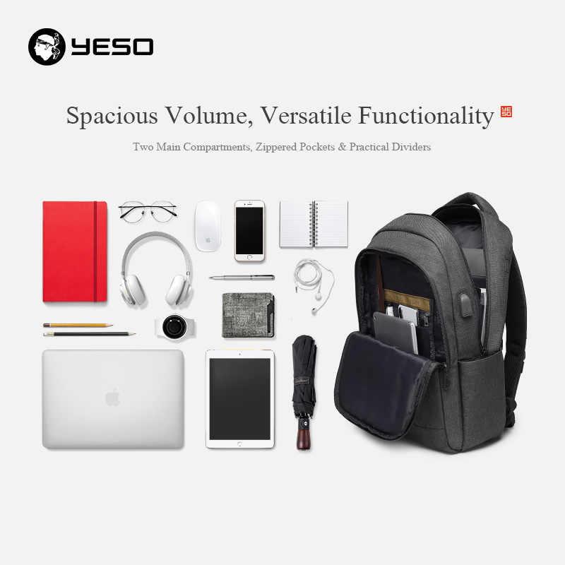 YESO рюкзак большой емкости с зарядкой через usb многофункциональные подростковые бизнес школьные рюкзаки для ноутбука для путешествий для женщин и мужчин