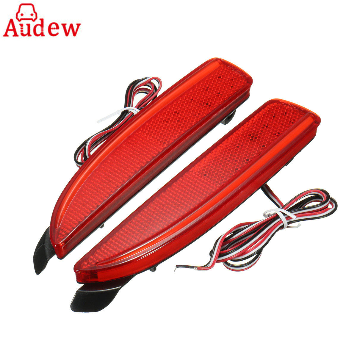 2Pcs Red Car LED Lamp Tail Rear Bumper Tail Brake Stop Running Light For Mazda 6 ATENZA 2014-2016 dongzhen fit for nissan bluebird sylphy almera led red rear bumper reflectors light night running brake warning lights lamp