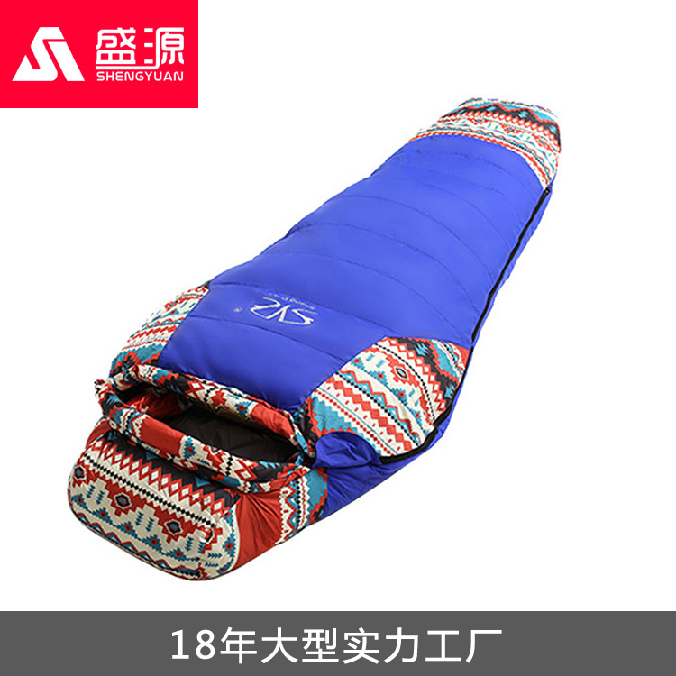 (190+30)*80*50cm Duck Down Sleeping Bag Winter Waterproof Mummy Sleeping Bag Warm Outdoor Camping Hiking Sleeping Bag adult down outdoor camping sleeping bag mummy model sleeping bag with waterproof nylon sleeping bag