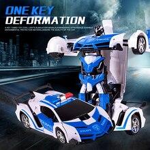 Coche de Control remoto inalámbrico 2 en 1 para niños, robot de transformación deportiva, juguete para regalo