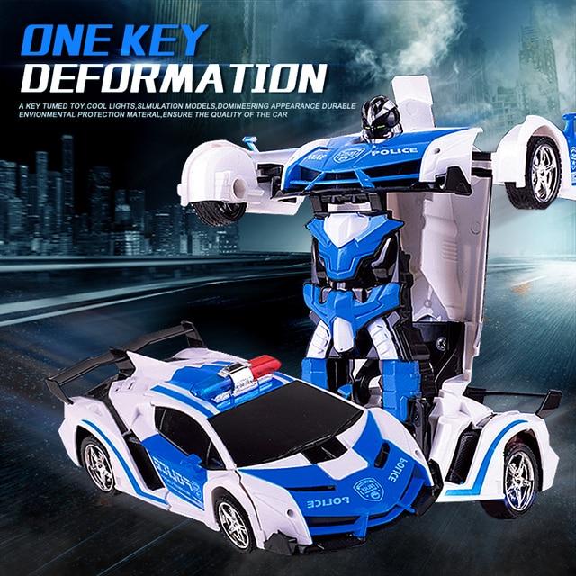 Voiture robot RC 2 en 1, télécommande, robot à déformation RC sans fil, modèles RC, conduite, Transformation sportive, jouet pour enfants, cadeau
