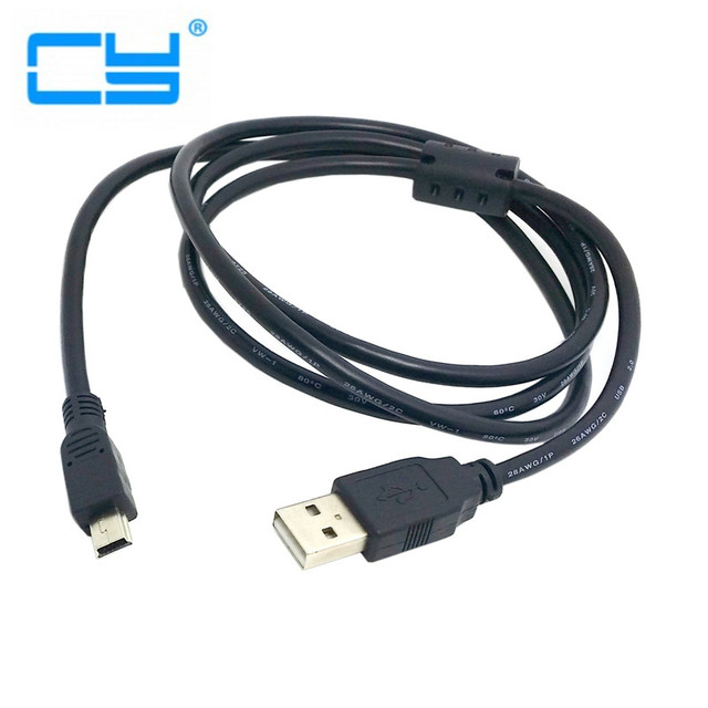 1,5 Mt 5ft 16ft 1 stücke Schwarz Short Mini USB Kabel 5 Pin ...