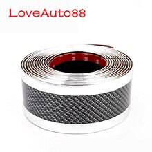 Seuils de porte autocollant protecteur fibre de carbone Stylings de voiture seuil de porte seuil plaque de protection pour Kia Sportage QL sorento