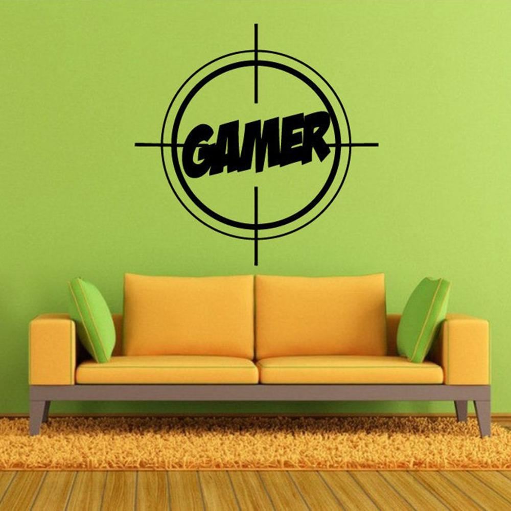 Electric contest Gamer wall sticker video game Sighting device wall decal home decor For Kids Bedroom Vinyl Wall Art Decals G441