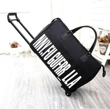 HCBDGR New Hot Fashion Women's Trolley Luggage Suitcase Brand Casual Roll Folding Boarding Suitcase Travel Bag Wheeled Luggage