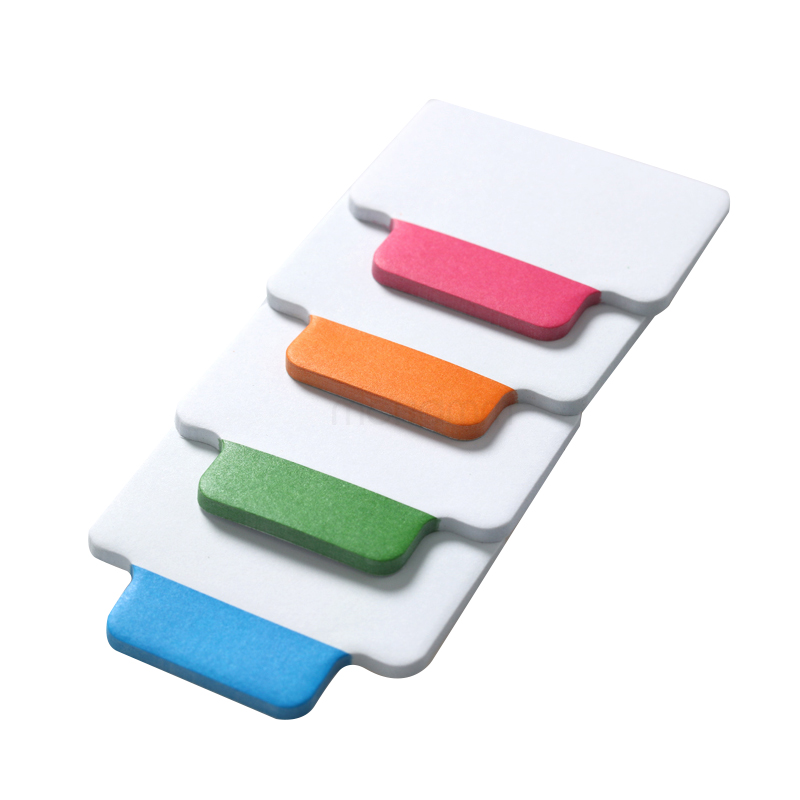 25 Sheets/4 Colors Write-On Removable Index Tab Sticker Book In Notebook Notepad Stationery School Office Supplies