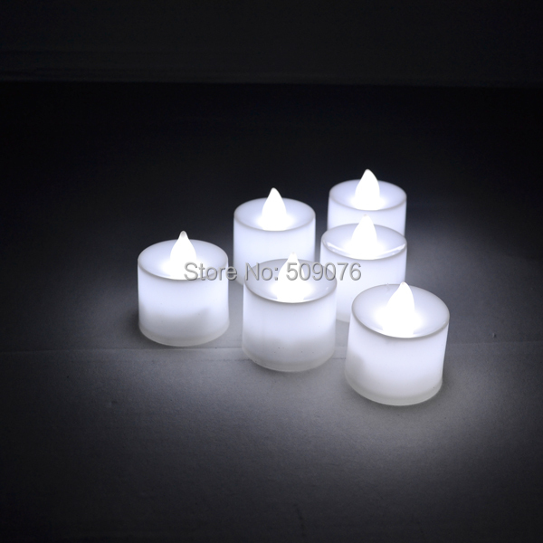 Free shipping 72pcs/lot Flameless Flicker Battery Operated LED Tea Lights Candles warm White Wedding Xmas Party